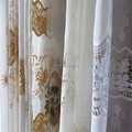 embroidery voile fabric for voile ,embroiery curtain fabric