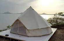 On selling Newest design aluminium alloy pole bell boat camping teepee tent