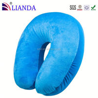 u shape neck pillow,neck pillow filled with polystyrene beads,car seat neck pillow