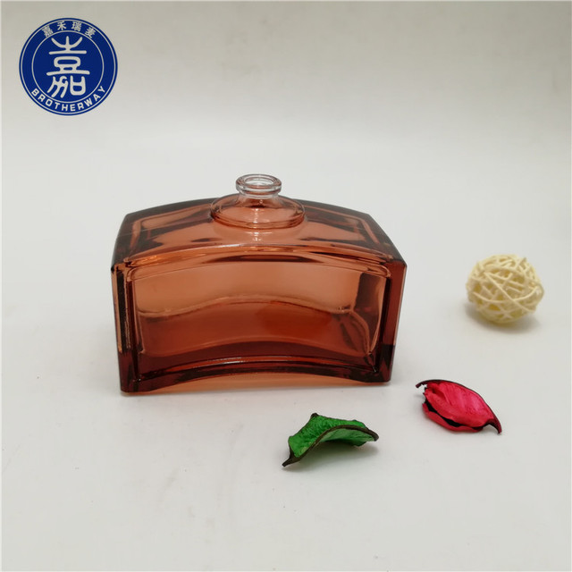 Square glass perfume bottle 100ml glass scented cosmetic bottles