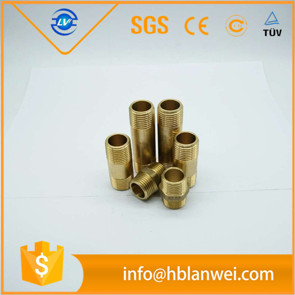 "Best selling 1/2""X1/2"" Hex double male brass pipe fittings"