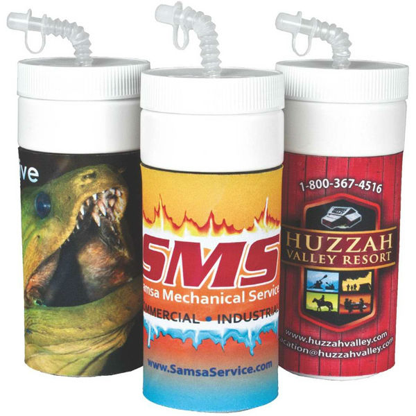 USA Made 32 oz Sublimated Full Color Insulated Sports Bottle With Straw Lid - comes with your full color logo