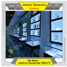 Top selling customized new design island glass showcase jewelry dispaly cabinets