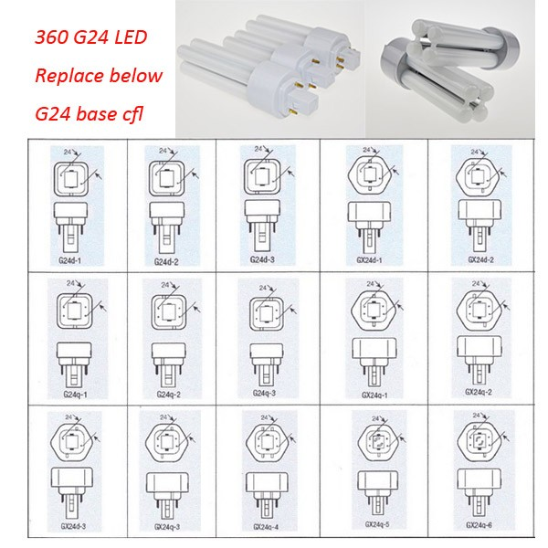 Cfl Retrofit 2pin G24d 1 G24d 2 G24d 3 Led Pl Lamp Buy