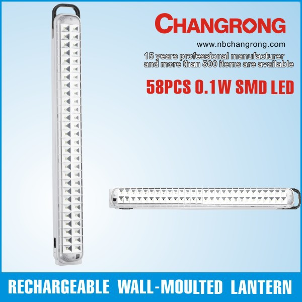 emergency &automatic rechargeable remote control wall-mounted lantern with straw led