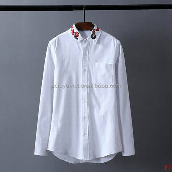 2016 men button shirt 100% custom casual shirt design men long sleeve shirt