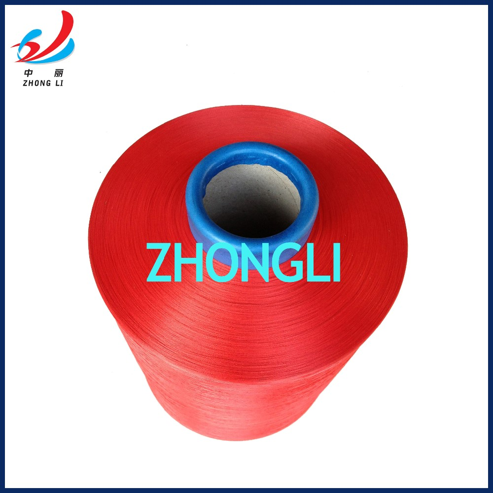 Colored Polyester Textured Yarn DTY