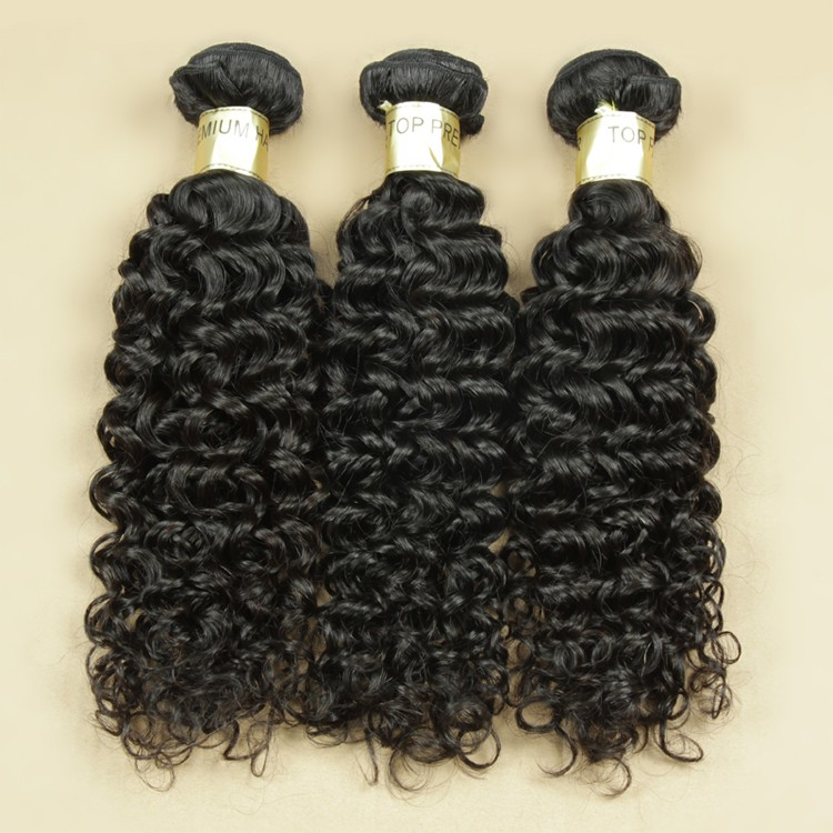 No tangle best quality 7a raw human Cambodian curly virgin hair