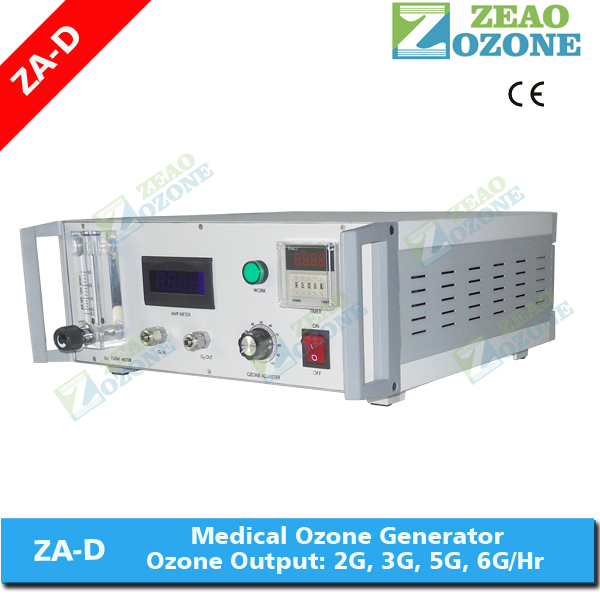 Medical ozone generator for blood, dental, sauna and ozone therapy