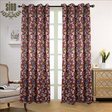 Custom Printed Top Curtain For Window Covering