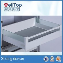 Bottom mount decorative cabinet drawer rail