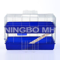 Metal Wire Guinea Pig/Ferret Rat Hutch, Small Animal Cage