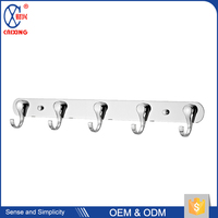Unique design metal stainless steel wall mounted clothes j hook