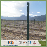Orchard plantations Electrostatic coating green metal grape stake