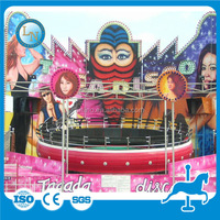 Crazy fun entertainment carnival tagada disco ride for sale with certificate