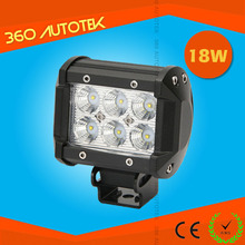 Wholesale18w ar led tuning light wide beam spot light for offroad tanks motorcycle bike Agriculture vehicle