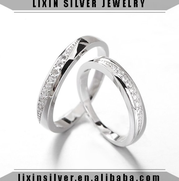 LIXIN 925 sterling silver fashion jewelry couple rings engagement wedding rings (HH07-74IE)