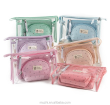 Girls Fashion PVC Pouch Set Travel Clear Cosmetic Bag