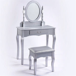 European style modern white simple design cheap wooden dressing table mirror with drawer
