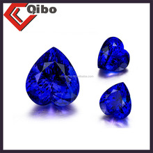 heart cut round shape blue loose tanzanite stones for sale