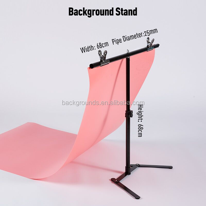 Newest Design Photography Background Portable Adjustable PVC Backdrop Stand and Children Shoot Stand for Photo Studio