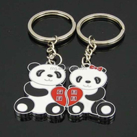 Fashion Cute Panda Couple Keyring Valentine's Day Lover Gift Key Chain