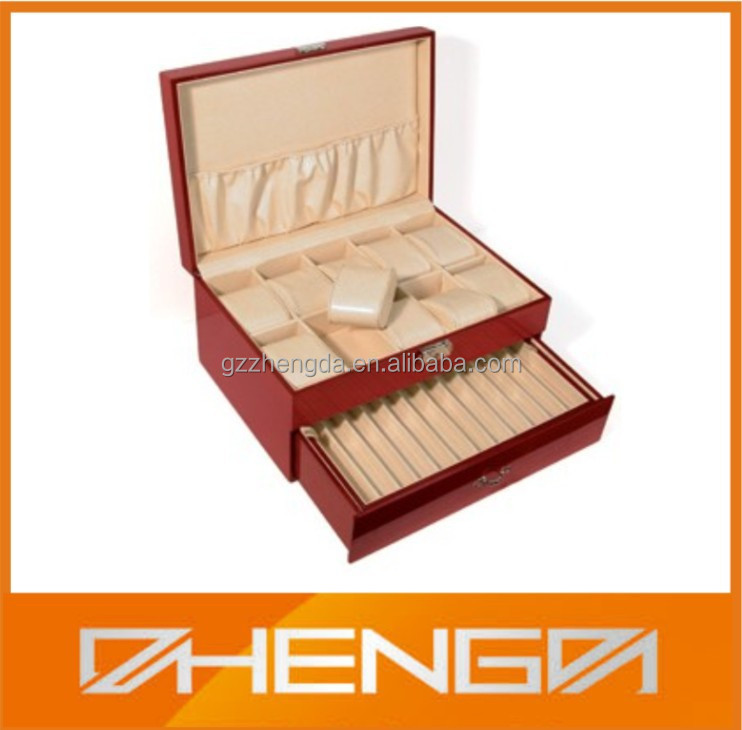 Hot Sale!!! Customized Glossy lacquer Solid Wood Drawer Box