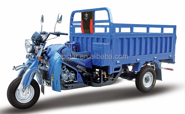 200cc Water Cooled Heavy Duty Three Wheel Motorcycle With Deep Wagon