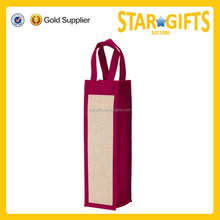 Wholesale Cheap Price Pp Non Woven Single Bottle Wine Tote Bag For Shop