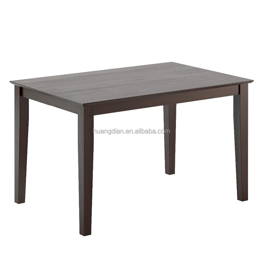 Dark Cocoa Stained Rubberwood wooden dining table designs