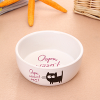 Hot Selling Lovely Safety Feeding or Watering Ceramic Cat Bowl for Cats