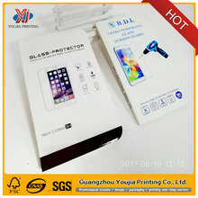 Mobile phone protective film/tempered glass screen protector blister packaging box