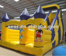 2012 New & Giant Inflatable Mickey Jumping castle dry/wet Slide for kids