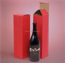 2015 Popular One Bottom Wine Boxes Wine Kraft Paper Gift Boxes For Wine Bottle