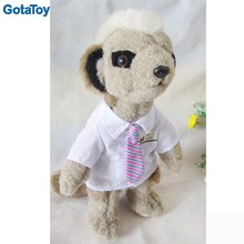 Hot sales custom stuffed meerkat soft toy with tie
