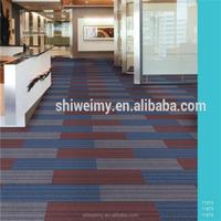 Rectangular shape nylon yarn pvc backing carpet tile