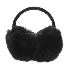 Winter & Spring & Autumn Women Warm Fur Earmuffs Girl's Earlap Ultralarge Rabbit Hair Earflap Ladie's Cute Plush Ear Muff
