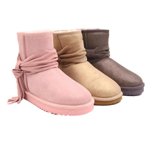 Cheap Wholesale Full Sheepskin Non-slip Ankle Shoes Women's Leather Shoes Boots For Men JLX-M03
