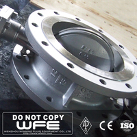 API 609 AWWA A216 WCB Stainless Steel 304 316 Worm Actuated Flange Industrial High Performance Butterfly Valve