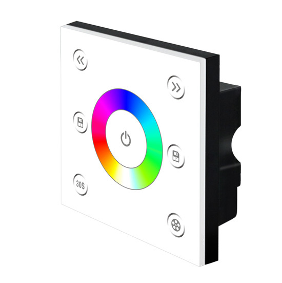 bincolor p3 12v led rgb touch dimmer wall mounted rgb controller view led rgb wall mounted. Black Bedroom Furniture Sets. Home Design Ideas