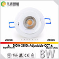 CCT Newest Products Best Selling Cutout 83mm LED Downlight CRI>83 8W Dimmable COB warm white CCT 2000k-2800k