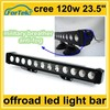"single row 120w cree 24"" led offroad light bar for ATV moto"