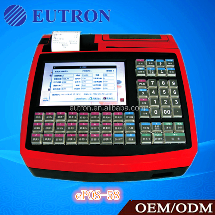 hot selling embedded Linux POS cash register with software