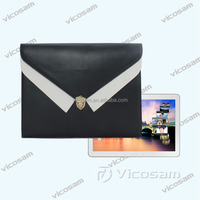 Wholesale high quality fashion PU envelopes sleeve bag for ipad with metal buckle