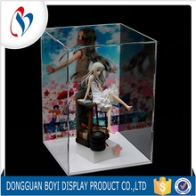 Customized Clear Acrylic Display Stand With Lids Round Acrylic Box