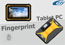 7'' rugged android 4.4 fingerprint reader tablet PC