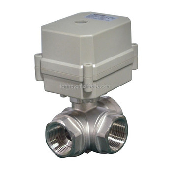 3Way 3/4'' Stainless Steel 304 Electric Control Ball valve For Drinking Water Treatment (A100-T20-S3-C)