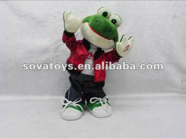 Plush Battery Operated Music Frog