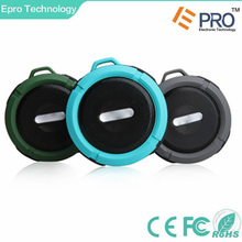 5W audio driver waterproof wireless c6 bluetooth speaker with suction cup