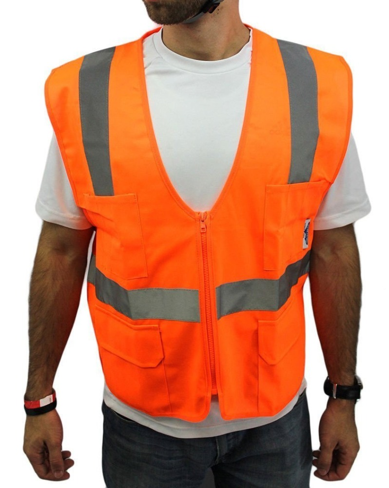 Manufactory supply Safety Vest For Men, USA ANSI/ISEA 2010 standard, Mesh and T/C reflective tapes, 25times wash,